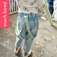 Suspender Jean Light Blue