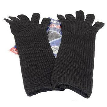 Long Cut Resistant Working Sleeve Gloves With Stainless Steel Wire Protective Safety Gloves Metal Tactical Butcher Steel Gloves