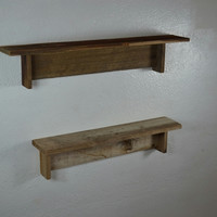 "Pair of wood shelves 20"" wide and 24"" wide almost 4"" deep"