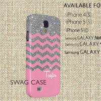 Monogram galaxy s4 case, Pink Chevron galaxy s3 case, Cute galaxy note 2 case, hard plastic light weight case