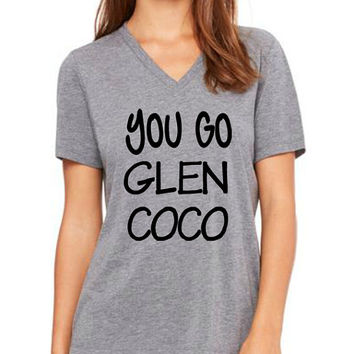 You go Glenn Coco women v neck tshirt lovely size s to 2xl