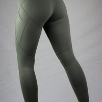 Zynith Women's Daily Limitless Leggings Olive Green