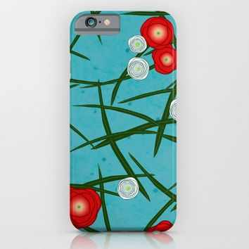 Japenese Water Flowers Pattern iPhone & iPod Case by oursunnycdays