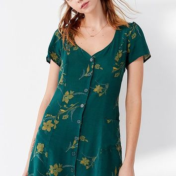 UO Lola Button-Down Mini Dress | Urban Outfitters