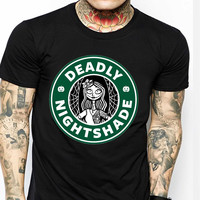 Sally Nightmare Before Christmas Deadly Nightshade TV Mens T-shirt Black and White