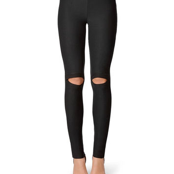 Our Front Slashed Leggings are a wonderful full length black legging that is going to give your wardrobe an all new flirty sexy style to your fashion mix. This is a high quality seamless legging that is going to add a leg fashion piece to your.