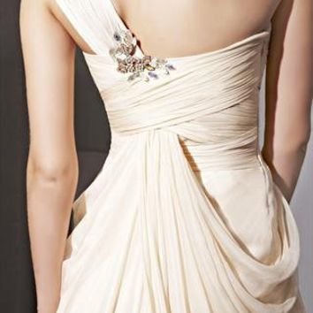 Apricot One-strap Beads Mermaid Design Party Dress 81050 from locascio
