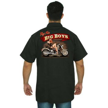Men's Mechanic Work Shirt Toys for Big Boys