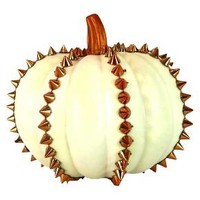 Halloween Studded Pumpkin Small White - Hyde and Eek! Boutique™