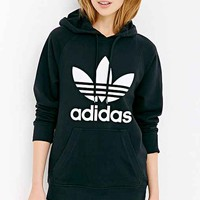 adidas Originals Trefoil Hooded Sweatshirt- Black