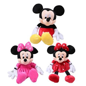 2pcs/lot 28cm Cute Mickey Mouse Minnie Mouse Stuffed Soft Cartoon Animal Plush Toys Kids Baby Love Dolls Classic Birthday Gifts