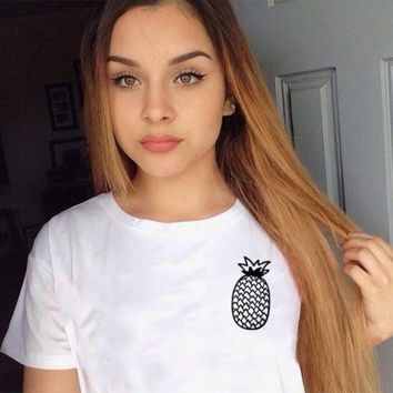 DCCKLM3 Pineapple T-Shirt in White