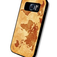 DCD - World Map Vintage Custom Case for Samsung Galaxy S4 S5 S6 (Samsung Galaxy S6 black)