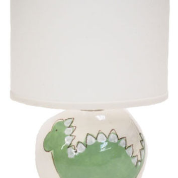 Green Dino on White Ceramic Table Lamps Collection