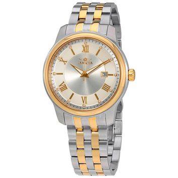 Invicta Vintage Silver Dial Mens Two Tone Watch 23014