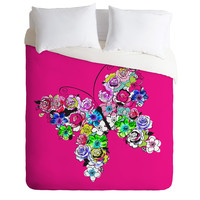 Mary Beth Freet Ink Blossoms Butterfly Duvet Cover