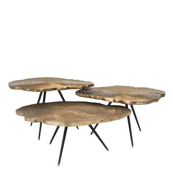 Brass Coffee Table Set | Eichholtz Quercus
