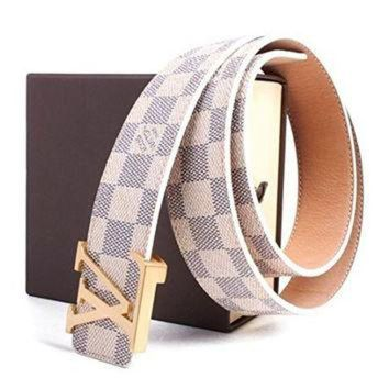 DCCK9 LV louis vuitton white belt