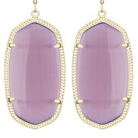 Danielle Gold Earrings in Purple Cat's Eye - Kendra Scott Fashion Designer Jewelry - Earrings