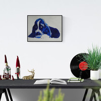 Gift for dog fans - Basset portrait - Basset - drawing - Basset illustration - Basset portraits