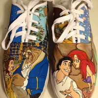 Custom Hand-Painted Shoes: Disney Princess