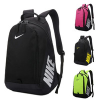 NIKE Waterproof bag male fashion trend college female sports contracted lovers double shoulder bag