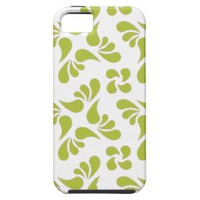 Leaf Pattern - White And Green Acid iPhone 5 Cases from Zazzle.com