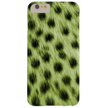 Green Spotted Cheetah Fur Look Barely There iPhone 6 Plus Case
