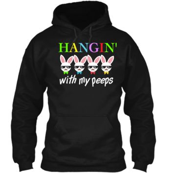 Easter TShirt Outfits Kids Boys Hanging With My Peeps Shirt Pullover Hoodie 8 oz