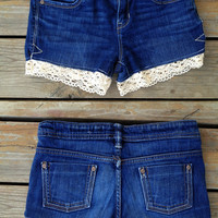 OLD NAVY low rise shorts with lace detail