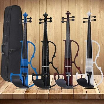 CREYLD1 4/4 Acoustic Violin Basswood Panel Stringed Instruments Fiddle With Violin Case Bow Headphone Rosin Aluminum Alloy Strings