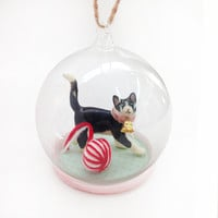 Kitten Globe Ornament