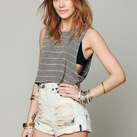 Free People Crop Tied Back Top