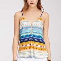 Tribal Print Zipped Cami - Clothing - 2000080555 - Forever 21 EU