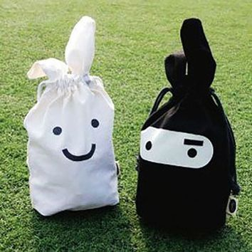 Ninja Spy Rabbit Shopping bag,Eco-friendly folding reusable Portable Shoulder handle Bag Polyester for Travel Grocery