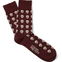 Alexander McQueen Skull-Patterned Cotton-Blend Socks | MR PORTER