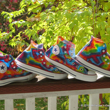 MADE to ORDER ... Tie-Dye Converse Shoes Hi Top