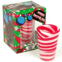 Candy Cane Edible Shot Glasses (2 Pack)