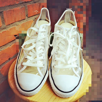 f81529ec3f15 Limited edition Clear jellies hip hop Converse canvas shoes clear plastic  shoes