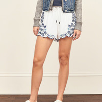 Embroidered Soft Shorts