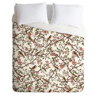 Belle13 Sparrow Tree On A Spring Day Duvet Cover