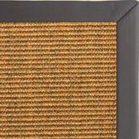 Cognac Sisal Rug with Midnight Faux Leather Border