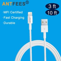 3 Meter Long USB Cable Charger for Apple iPhone SE 5 5s 6 6s 7 8 Plus X 10ft 3m Lighting MFI Certified 8 Pin Cable for iPad iPod