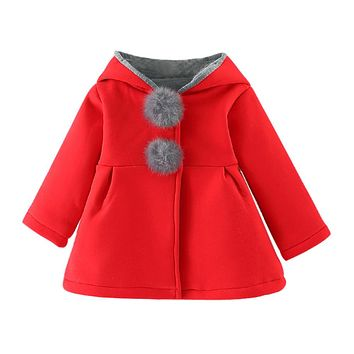 Baby Infant Girls Winter Warm Coat Jacket Thick Warm Clothes