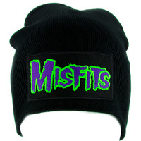 Psychobilly Deathrock Misfits Beanie Knit Cap Alternative Clothing Punk Rock Danzig