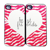 BEST FRIENDS hot pink zebra