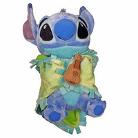 "disney parks 10"" baby stitch plush toy with blanket new with tag"