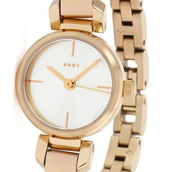 DKNY Ellington Sunray Dial Rose Gold Toned Bangle Women Watch NY2629