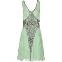 Embellished silk-chiffon dress - Philosophy di Alberta Ferretti - Polyvore