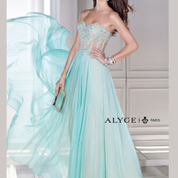Sweetheart Lace Accent Chiffon Prom Dress By B'Dazzle 35677